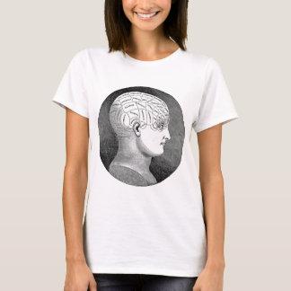 Awesome Vintage Art Phrenology head Diagram T-Shirt