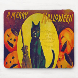 Awesome Vintage Halloween Mouse Pad
