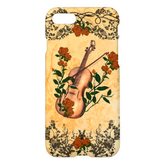 Awesome violin with violin bow iPhone 7 case