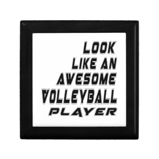 Awesome Volleyball Player Jewelry Boxes