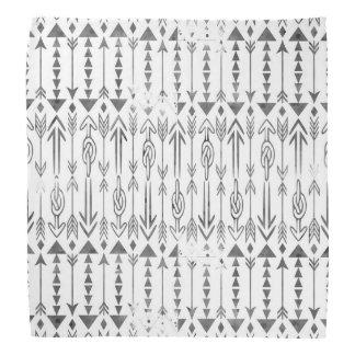 Awesome  watercolor splatters grey tribal arrows bandana
