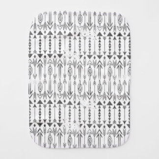 Awesome  watercolor splatters grey tribal arrows burp cloth