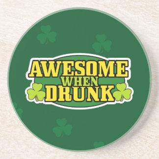 Awesome When Drunk Irish Coaster