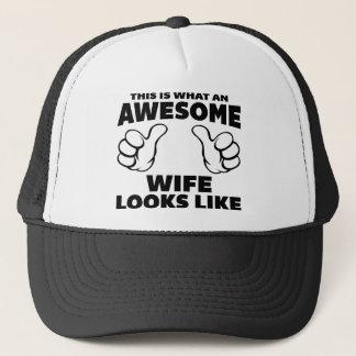 Awesome Wife Looks Like Trucker Hat