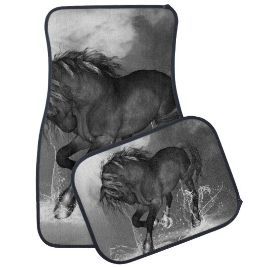 Awesome wild horse floor mat