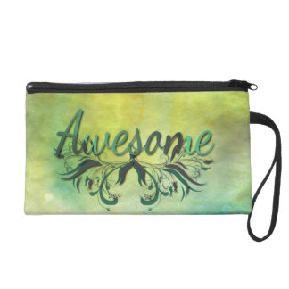 Awesome with Flourishes Wristlet Purses