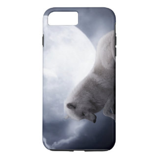 Awesome Wolf and Moon White Wolf iPhone 7 Plus Case