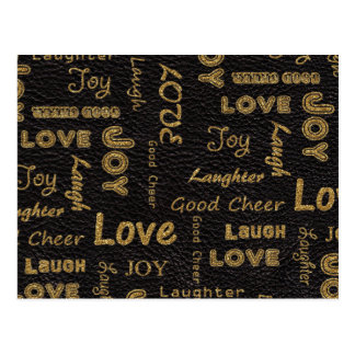 Awesome words to live by, Love, Joy, Laugh Postcard