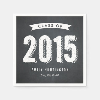 Awesome Year Chalkboard Graduation Napkins Standard Cocktail Napkin