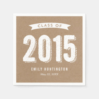 Awesome Year Craft Graduation Napkins Standard Cocktail Napkin