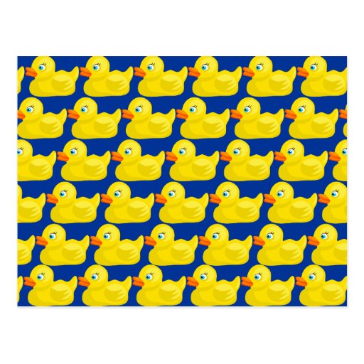 Awesome Yellow Rubber Ducky Wallpaper Design Post Cards
