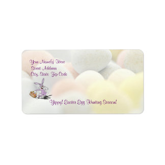 Awesome Yippy! It's Easter Egg Hunting Season! Address Label