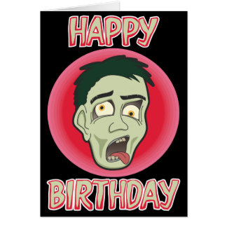 Awesome Zombie Birthday Card