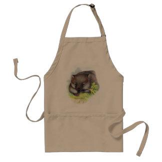 Awesomely cute Australian animal wombat vintage Standard Apron