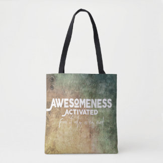 Awesomeness Activated - Green - Tote - Bag