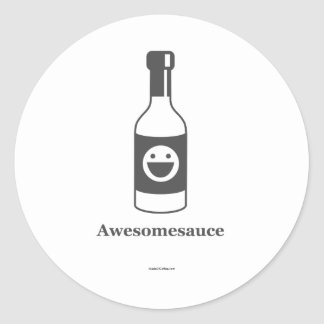 Awesomesauce (Light Product/Dark Design) Round Sticker