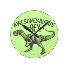 Awesomesaurus Rex Round Clock