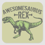 Awesomesaurus Rex Square Stickers
