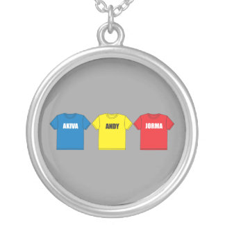 Awesometown Round Pendant Necklace