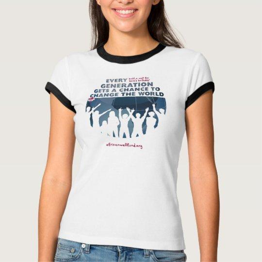 AWF Bono Birthday Well Ladies Tshirt Ringer