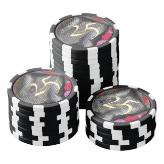 Awful colorful tiles poker chips