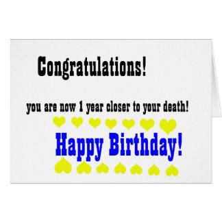 Awful funny Happy Birthday card Greeting Card