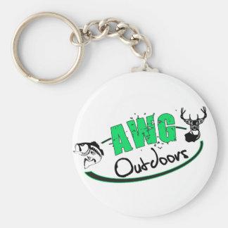 AWG Outdoors Logo Basic Round Button Key Ring