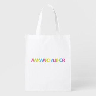 Awkward Author reusable bag Grocery Bag