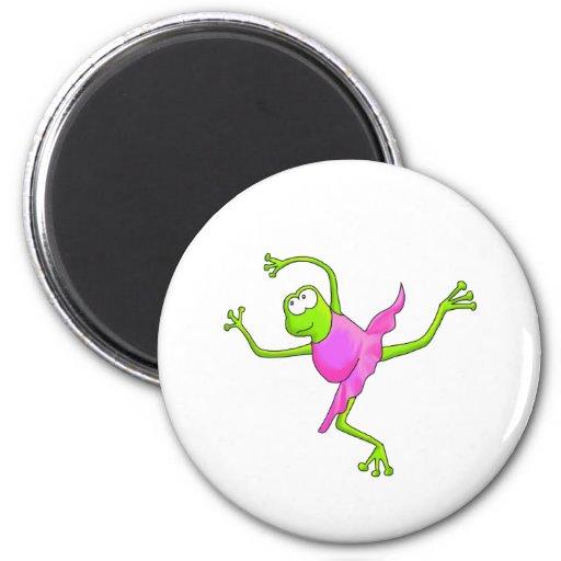Awkward Ballet Frog 6 Cm Round Magnet