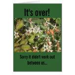 Awkward Break Up Card