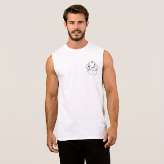 Awkward chameleon graphic pocket design sleeveless shirt