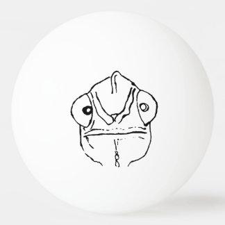 Awkward Chameleon Ping Pong Ball