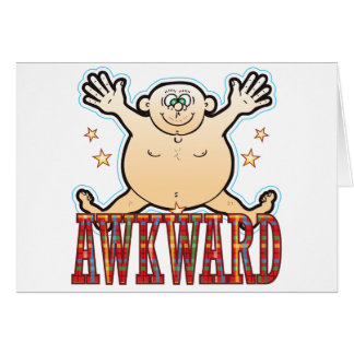 Awkward Fat Man Card