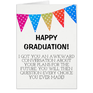 AWKWARD Graduation Card
