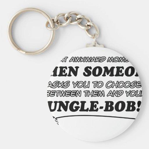 Awkward jungle bob designs keychain