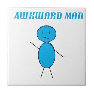 Awkward Man Small Square Tile