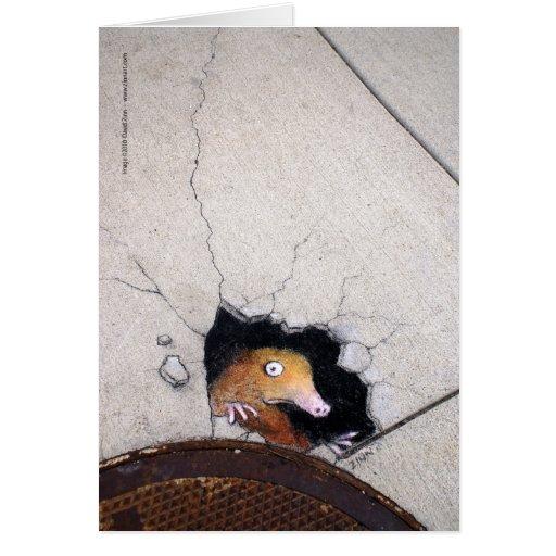 awkward mole greeting card