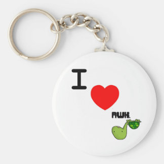 awkward turtle love basic round button key ring