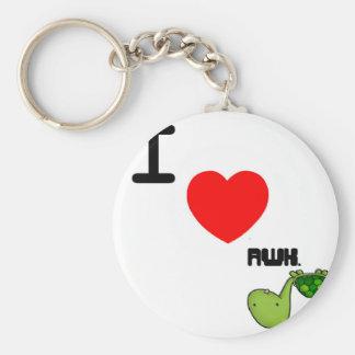 awkward turtle love basic round button key ring
