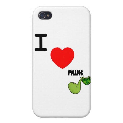 awkward turtle love iPhone 4 case