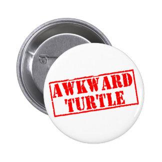 Awkward Turtle Stamp 6 Cm Round Badge
