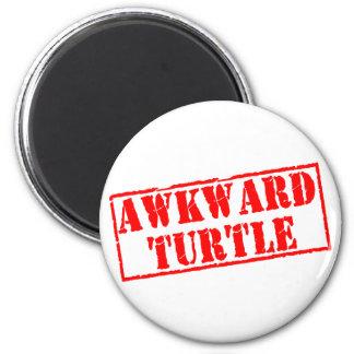 Awkward Turtle Stamp 6 Cm Round Magnet