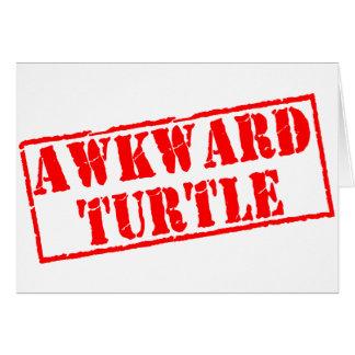 Awkward Turtle Stamp Greeting Card