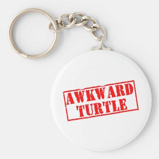 Awkward Turtle Stamp Key Chains