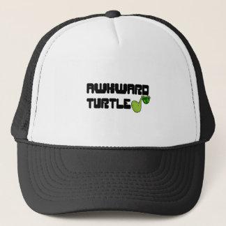 Awkward turtle trucker hat