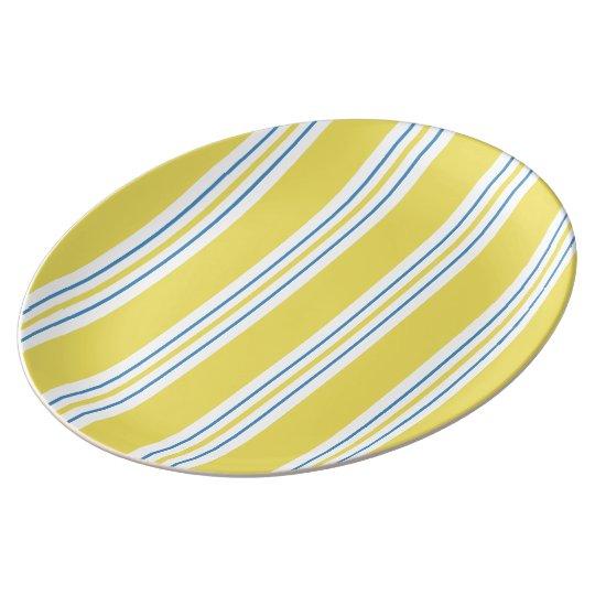 Awning Stripe - yellow Plate
