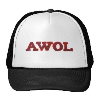 AWOL absent without leave Cap