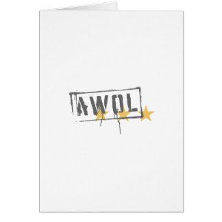 AWOL GREETING CARD