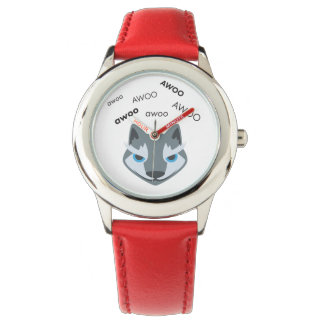 Awoo Wolf Cute Emoji Watch