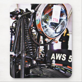 AWS 5. Vintage motorcycle front view Mouse Pad